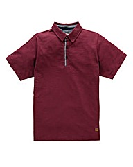 Flintoff by Jacamo Slub Polo Long