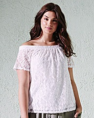 Lace Bardot Gypsy Top