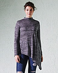 Asymmetric Long-Sleeve Top