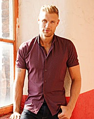 Flintoff By Jacamo Printed Shirt Reg