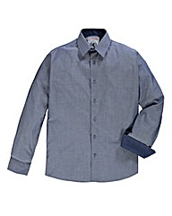 Flintoff By Jacamo Jacquard Shirt Long