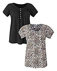 Pack 2 Short-Sleeve Gypsy Tops