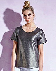 Metallic Boxy Top