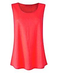 Bright Pink Jersey Jacquard Vest