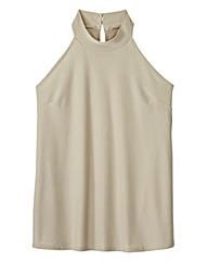 High-Neck Vest Top