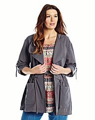 Waterfall Front Jacket - Grey Stone