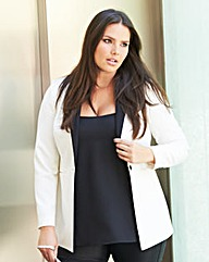 Mix & Match Contrast Collar Short Blazer