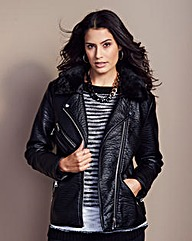 Simply Be PU Biker Jacket
