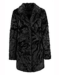 Crushed Fur Coat