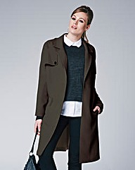 Lightweight Duster Coat - Khaki