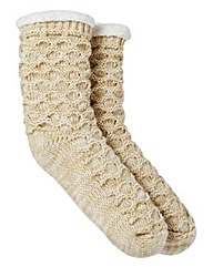 Totes Knitted Slipper Socks