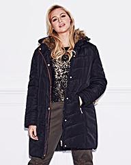 Lovedrobe Fur Trim Padded Coat