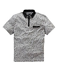Black Label By Jacamo Arlo Floral Polo R