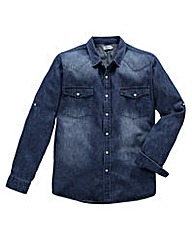 Firetrap Brunswick Denim Shirt Long