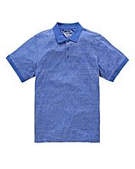 Jacamo Griffin Blue Marl Jersey Polo L