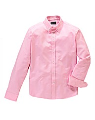 Black Label By Jacamo Pink Henry Shirt R