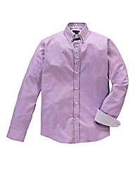 Black Label By Jacamo Lilac Hnry Shirt L