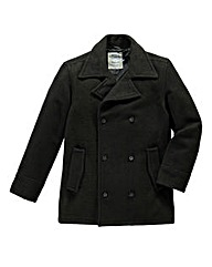 Vintage Wool Mix Peacoat