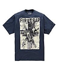 Firetrap Winston Indigo T-Shirt Regular