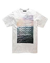 French Connection Waves White T-Shirt