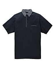 French Connection Geo Collar Marine Polo