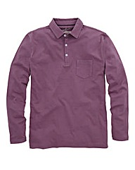 Jacamo Plum Jersey Polo Long