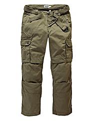 Jacamo Khaki Carson Cargo Pant 31in