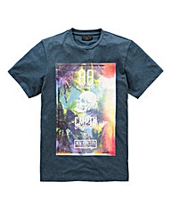Label J Skull Tropical T-Shirt Long