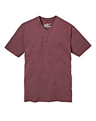Jacamo Plum Titus V-Neck Tee Long