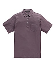 Jacamo Plum Austin Jersey Polo Shirt L