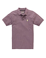 Jacamo Plum Embroidered Polo Regular