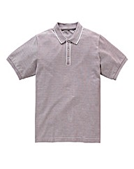 Jacamo Plum Aransas Piped Placket Polo L