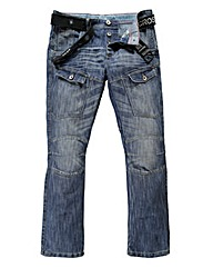 Crosshatch Control Cargo Jean 33In
