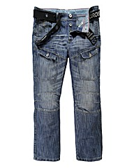 Crosshatch Control Cargo Jean 31In