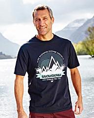 Snowdonia Mountains T-Shirt Long