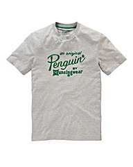 Original Penguin Flocked Logo T-Shirt