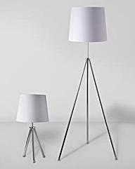 Tripod Table & Floor Lamp Set of 2