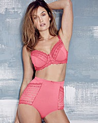 Geo Lace Full Cup Pink Bra