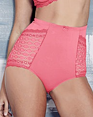 Hot Pink Geo Lace Full Fit Briefs