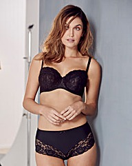Ella Lace Multiway Wired Black Bra