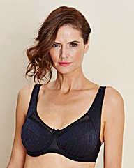 Naturally Close Full Cup Wired Black Bra