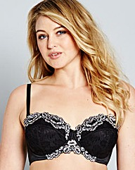 Black Two Tone Lace Multiway Bra