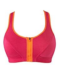 Pink/Orange Front Fastening Sports Bra