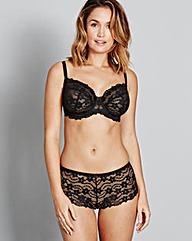Daisy Lace Full Cup BlackBra