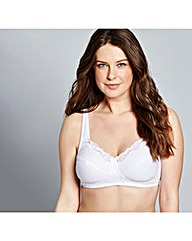 Sarah Non Wired White Bra