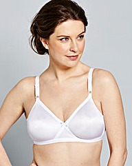 2 Pack Claire Non Wired White Bras