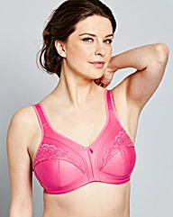 2 Pack Sally Minimiser Blk/Pink Bras