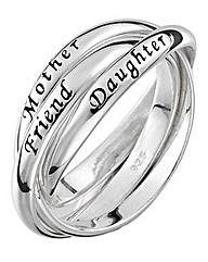 Mother, Daughter, Friend Ring
