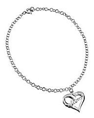 Sterling Silver Mum Heart Bracelet