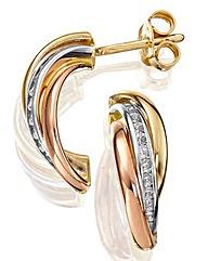 9 Carat Gold Russian Style Earrings